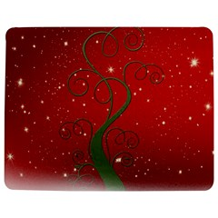 Christmas Modern Day Snow Star Red Jigsaw Puzzle Photo Stand (Rectangular)