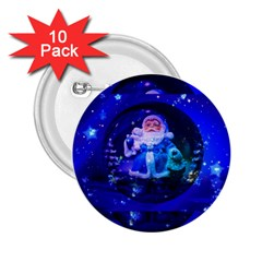 Christmas Nicholas Ball 2.25  Buttons (10 pack)