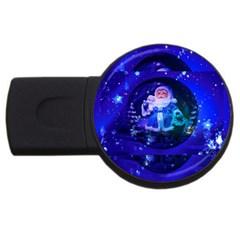 Christmas Nicholas Ball USB Flash Drive Round (1 GB)