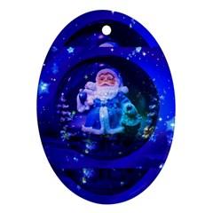 Christmas Nicholas Ball Oval Ornament (Two Sides)