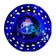 Christmas Nicholas Ball Round Filigree Ornament (Two Sides)
