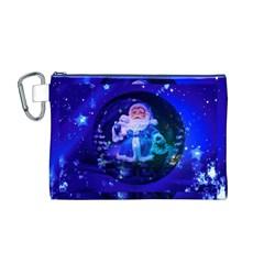 Christmas Nicholas Ball Canvas Cosmetic Bag (m)