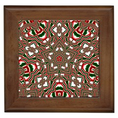 Christmas Kaleidoscope Framed Tiles