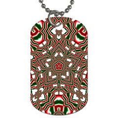 Christmas Kaleidoscope Dog Tag (One Side)