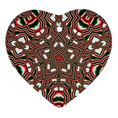 Christmas Kaleidoscope Heart Ornament (Two Sides)