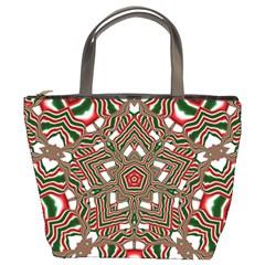 Christmas Kaleidoscope Bucket Bags