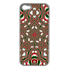 Christmas Kaleidoscope Apple iPhone 5 Case (Silver)