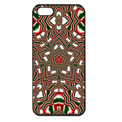 Christmas Kaleidoscope Apple Iphone 5 Seamless Case (black)