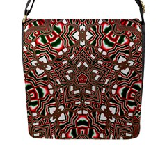 Christmas Kaleidoscope Flap Messenger Bag (L)