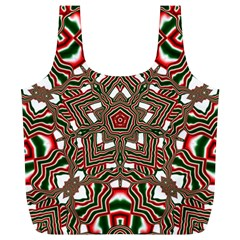 Christmas Kaleidoscope Full Print Recycle Bags (L)