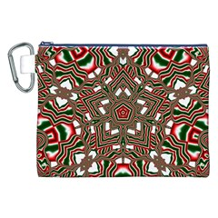 Christmas Kaleidoscope Canvas Cosmetic Bag (XXL)