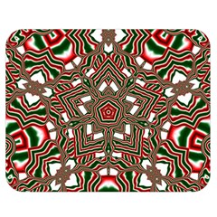 Christmas Kaleidoscope Double Sided Flano Blanket (Medium)