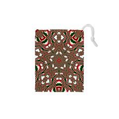 Christmas Kaleidoscope Drawstring Pouches (XS)