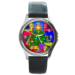 Christmas Ornaments Advent Ball Round Metal Watch