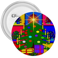 Christmas Ornaments Advent Ball 3  Buttons
