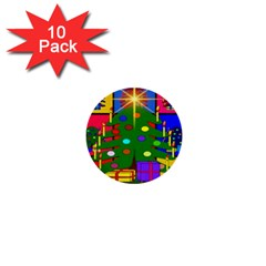 Christmas Ornaments Advent Ball 1  Mini Buttons (10 pack)