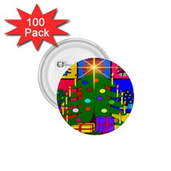 Christmas Ornaments Advent Ball 1 75  Buttons (100 Pack)
