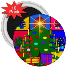 Christmas Ornaments Advent Ball 3  Magnets (10 pack)