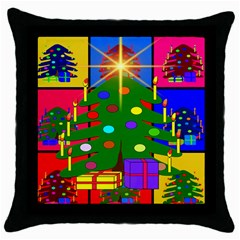 Christmas Ornaments Advent Ball Throw Pillow Case (black)