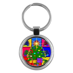 Christmas Ornaments Advent Ball Key Chains (Round)
