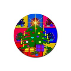 Christmas Ornaments Advent Ball Rubber Coaster (Round)