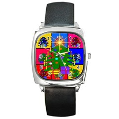Christmas Ornaments Advent Ball Square Metal Watch
