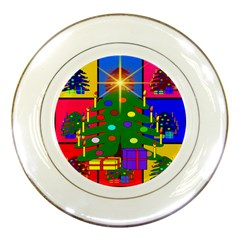 Christmas Ornaments Advent Ball Porcelain Plates