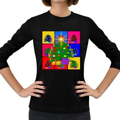 Christmas Ornaments Advent Ball Women s Long Sleeve Dark T-Shirts