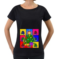 Christmas Ornaments Advent Ball Women s Loose-Fit T-Shirt (Black)