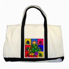 Christmas Ornaments Advent Ball Two Tone Tote Bag