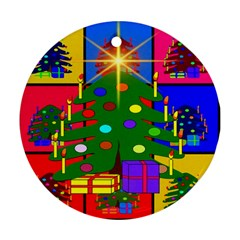 Christmas Ornaments Advent Ball Round Ornament (Two Sides)