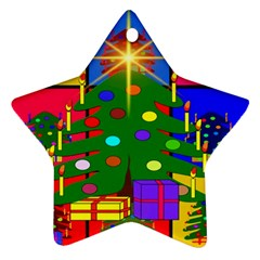 Christmas Ornaments Advent Ball Star Ornament (Two Sides)