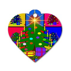 Christmas Ornaments Advent Ball Dog Tag Heart (two Sides)