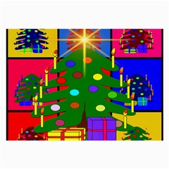 Christmas Ornaments Advent Ball Large Glasses Cloth (2-Side)