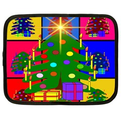 Christmas Ornaments Advent Ball Netbook Case (Large)