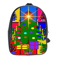 Christmas Ornaments Advent Ball School Bags(Large)