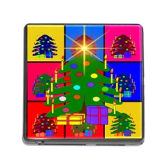 Christmas Ornaments Advent Ball Memory Card Reader (Square)