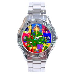 Christmas Ornaments Advent Ball Stainless Steel Analogue Watch