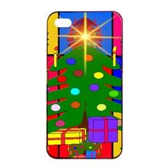 Christmas Ornaments Advent Ball Apple iPhone 4/4s Seamless Case (Black)