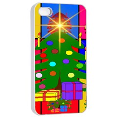 Christmas Ornaments Advent Ball Apple iPhone 4/4s Seamless Case (White)