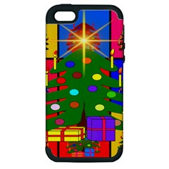 Christmas Ornaments Advent Ball Apple iPhone 5 Hardshell Case (PC+Silicone)
