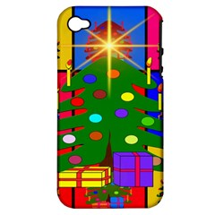 Christmas Ornaments Advent Ball Apple Iphone 4/4s Hardshell Case (pc+silicone)