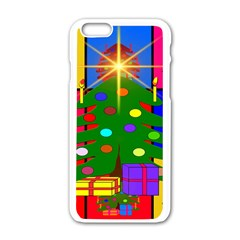 Christmas Ornaments Advent Ball Apple iPhone 6/6S White Enamel Case