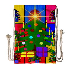 Christmas Ornaments Advent Ball Drawstring Bag (large)