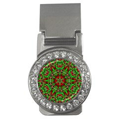 Christmas Kaleidoscope Pattern Money Clips (cz)