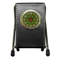 Christmas Kaleidoscope Pattern Pen Holder Desk Clocks