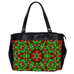 Christmas Kaleidoscope Pattern Office Handbags (2 Sides)
