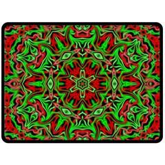 Christmas Kaleidoscope Pattern Fleece Blanket (Large)