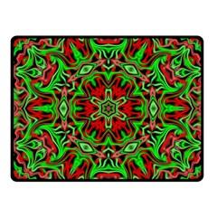 Christmas Kaleidoscope Pattern Fleece Blanket (small)