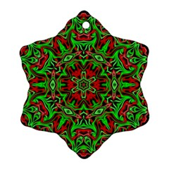Christmas Kaleidoscope Pattern Snowflake Ornament (Two Sides)